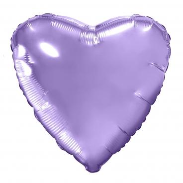 """Сердце, 19"""", Металлик сиреневый, фольгированный шар"""