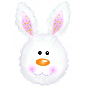 Заяц белый, голова, фольгированный шар