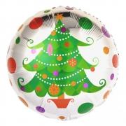 Новогодняя елка, фольгированный шар