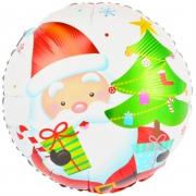 Дед мороз с подаркми, фольгированный шар