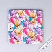 Тарелка бумажная, С днем рождения, квадратная