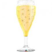 Бокал шампанского, фольгированный шар