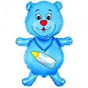 Медвежонок мальчик, фольгированный шар