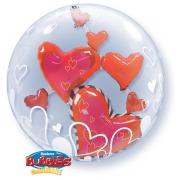 Пластиковый BUBBLE Инсайдер Парящие сердца красные