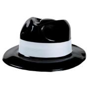 Шляпа пластиковая Гангстер с белой полосой