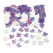 Конфетти Голуби перламутровые розовые