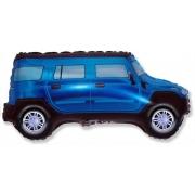 Джип синий, фольгированный шар
