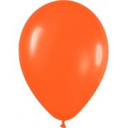 """Шар оранжевый 9"""", без рисунка, пастель"""