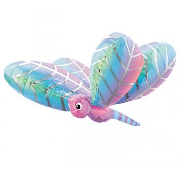 Стрекоза голубая, гелиевый, фольгированный шар