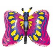 Бабочка малиновая, фольгированный шар