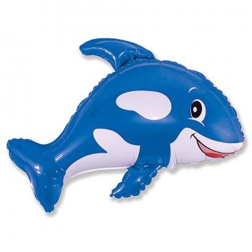 Касатка синяя, гелиевый, фольгированный шар
