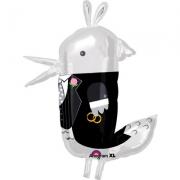 Птичка жених, фольгированный шар