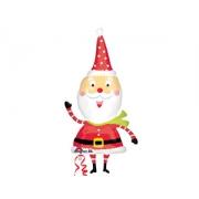 Санта забавный, фольгированный шар