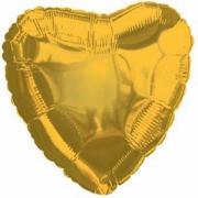 Сердце золото, фольгированный шар