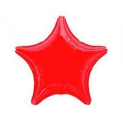 Звезда красная, фольгированный шар
