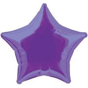 Звезда металлик фиолетовая, фольгированный шар