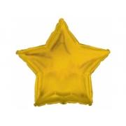 Звезда металлик золото, фольгированный шар