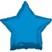 Звезда металлик синий, фольгированный шар