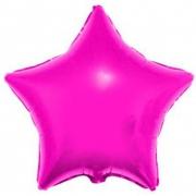 Звезда металлик фуксия, фольгированный шар