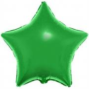 Звезда металлик зеленый, фольгированный шар