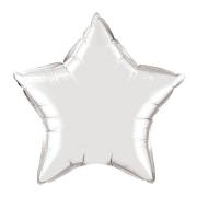 Звезда металлик серебряный, фольгированный шар
