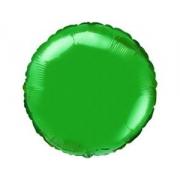 """Круг зеленый 18"""", фольгированный шар"""