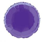 """Круг фиолетовый 18"""", фольгированный шар"""