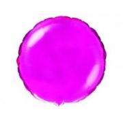 """Круг фуксия 18"""", фольгированный шар"""