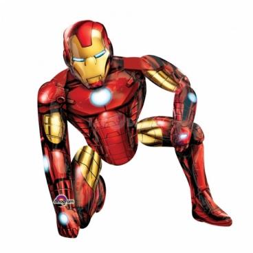 Железный человек, ходячая фигура, гелиевый, фольгированный шар