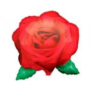 Роза красная, гелиевый, фольгированный шар