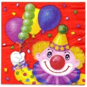 Салфетка Клоун с шарами