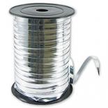 Лента метализированная, серебряная, однотонная, 5мм