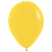 "Шар, 9"", желтый, пастель, латексный"