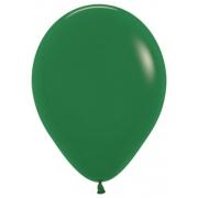 """Шар, 12"""", темно-зеленый, пастель, латексный"""