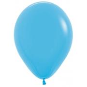 """Шар, 12"""",голубой, пастель, латексный"""