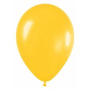 """Шар, 9"""", желтый, металлик, латексный"""