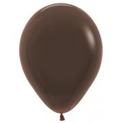 """Шар, 9"""", коричневый, пастель, латексный"""