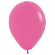 """Шар, 9"""", темно-розовый, пастель, латексный"""