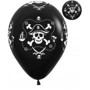 """Шар """"Пираты"""", 30 см, гелиевый, черный, пастель, латексный"""