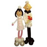Доктор и медсестра, фигура из воздушных шаров