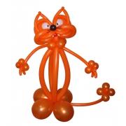 Рыжий кот, фигура из воздушных шаров