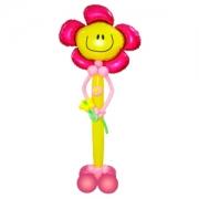 Дружелюбный цветочек, фигура из воздушных шаров