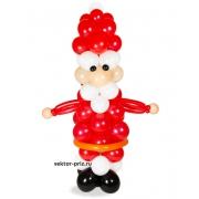 Санта Клаус, фигура из воздушных шаров