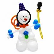 Снеговик, фигура из воздушных шаров