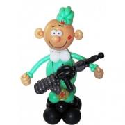Бравый солдатик, фигура из воздушных шаров
