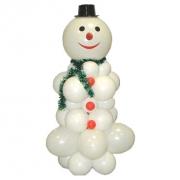 Снеговик, композиция из воздушных шаров