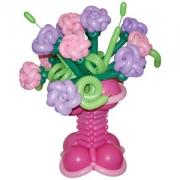 Корзина цветов 5, композиция из воздушных шаров