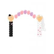 """Композиция """"Жених и невеста"""" из воздушных шаров"""
