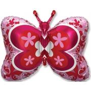 Бабочка декоративная, гелиевый, фольгированный шар
