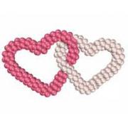 Двойное сердце, композиция  из воздушных шаров